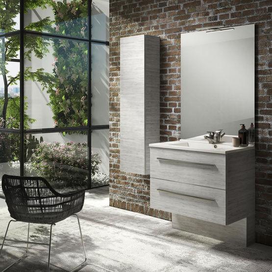 meuble salle de bain 2 tiroirs avec poign es ou prises de. Black Bedroom Furniture Sets. Home Design Ideas