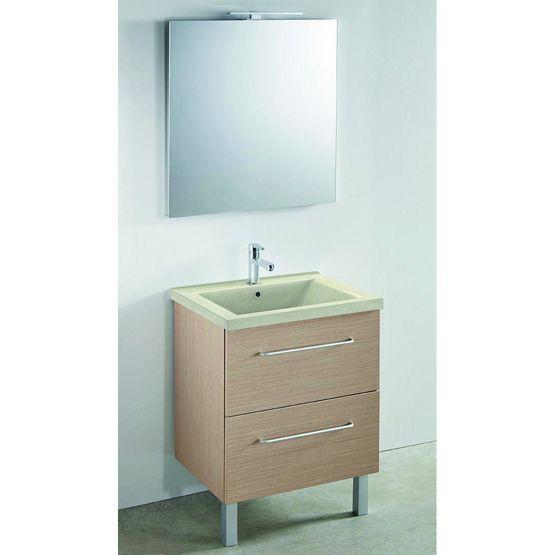 Toucan meuble vasque avec caisson m lamin et miroir batiproduits for Comconforama meuble de salle de bain avec vasque et miroir