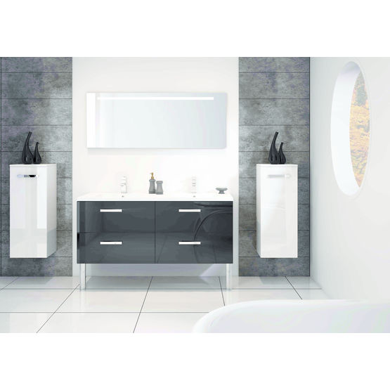meuble suspendu tiroirs plan de toilette int gr loft discac. Black Bedroom Furniture Sets. Home Design Ideas