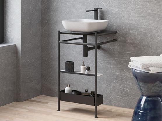 On Top Meuble Vasque A Poser Pour Salle De Bain Batiproduits