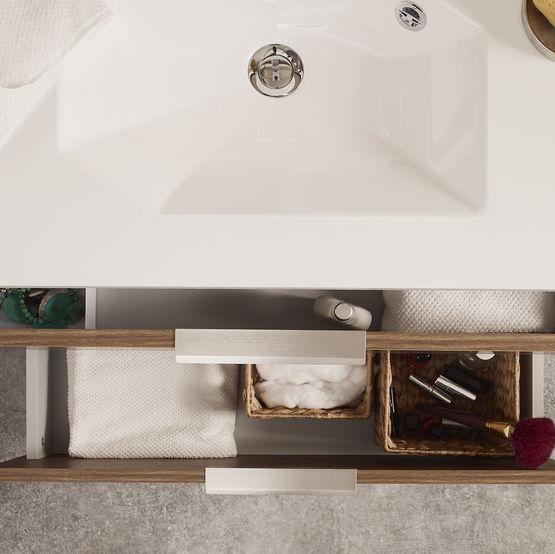 Infiniti meuble vasque de salle de bain tiroirs for Ou acheter meuble salle de bain