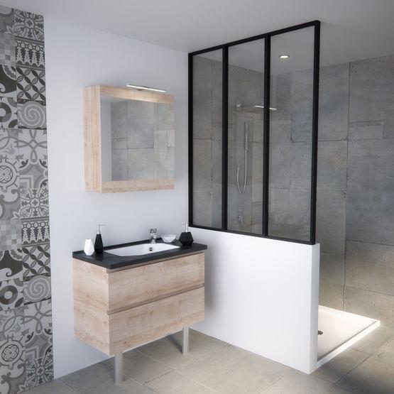 Meuble vasque de salle de bain avec tiroirs GAIN D\'ESPACE | Smart tiroirs