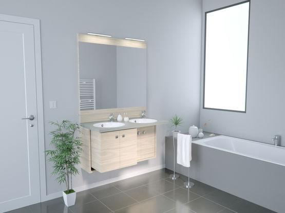meuble vasque de salle de bain r tractable et adaptable pmr retract chene vert. Black Bedroom Furniture Sets. Home Design Ideas