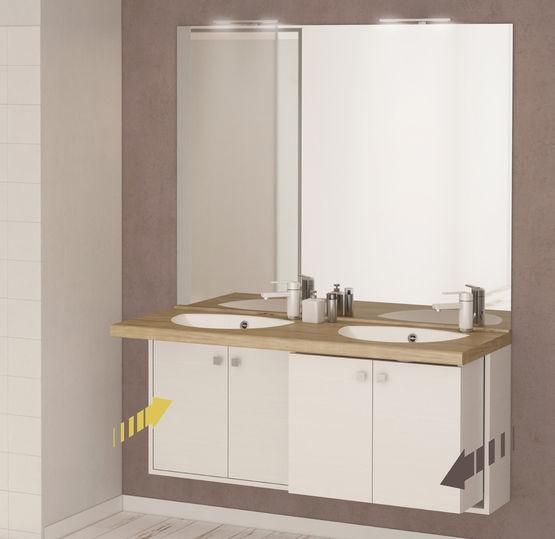 meuble vasque de salle de bain r tractable et adaptable pour pmr retract chene vert. Black Bedroom Furniture Sets. Home Design Ideas