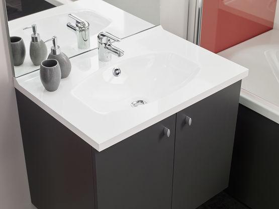 meuble une vasque interesting meuble salle de bain teck cosy vasque noir with meuble une vasque. Black Bedroom Furniture Sets. Home Design Ideas