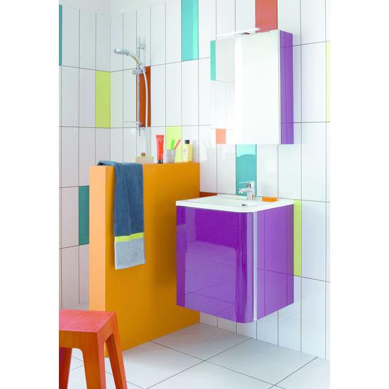 meubles de salle de bain vasque intgre de 50 ou 80 cm de largeur - Meuble Vasque Salle De Bain 50 Cm Nature