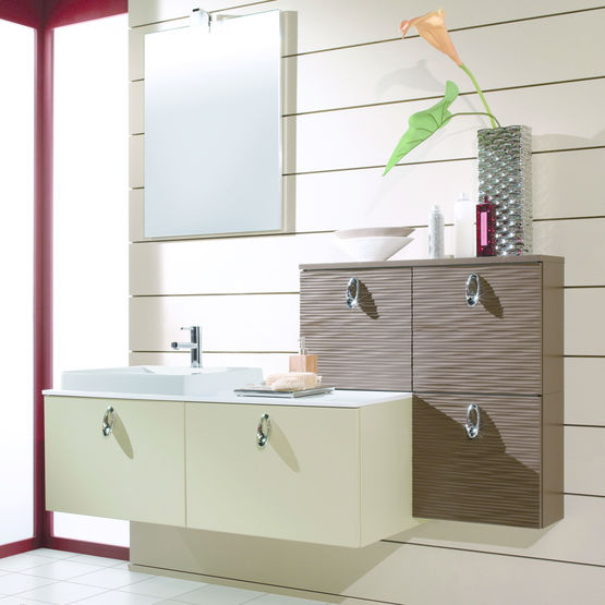 meubles de salle de bain avec vasque et miroir wave lagon pyram ets prieur. Black Bedroom Furniture Sets. Home Design Ideas