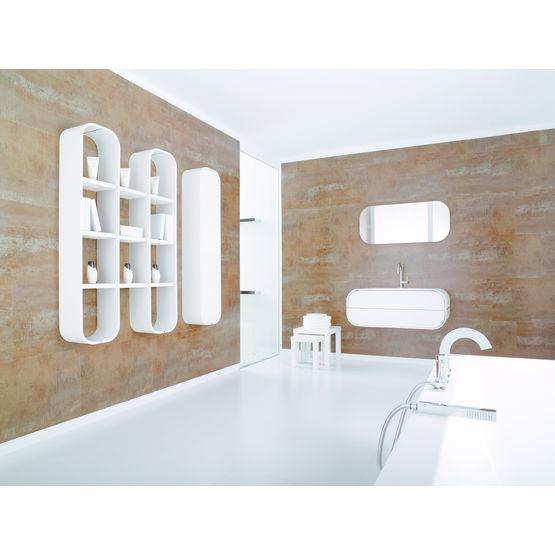 meubles de salle de bains aux lignes arrondies giro porcelanosa. Black Bedroom Furniture Sets. Home Design Ideas