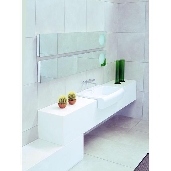 meubles de salle de bains avec appareils sanitaires semi encastr s una flaminia france. Black Bedroom Furniture Sets. Home Design Ideas