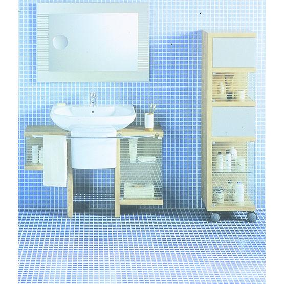 Meubles plaqu s pommier et accessoires de salle de bain senso roca division sanitaire - Meuble de salle de bain roca ...