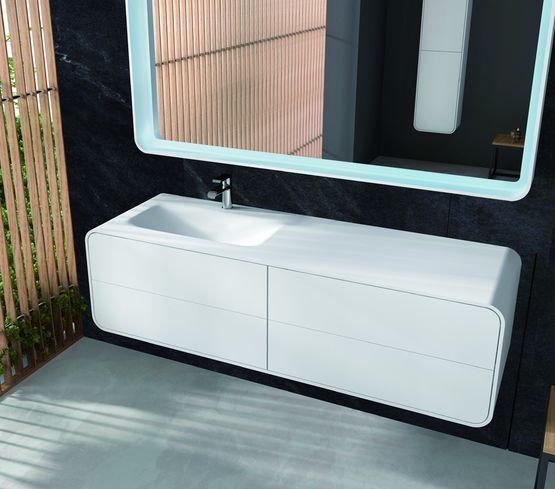 meubles vasque design en solid surface blanc e pure kramer. Black Bedroom Furniture Sets. Home Design Ideas