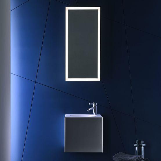 Miroirs salle de bain design en aluminium avec clairage led for Miroirs rectangulaires design