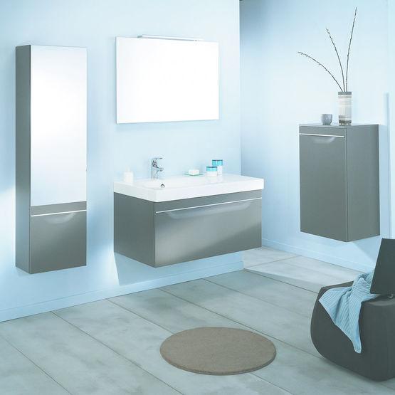 mobilier suspendu et accessoires pour salle de bains