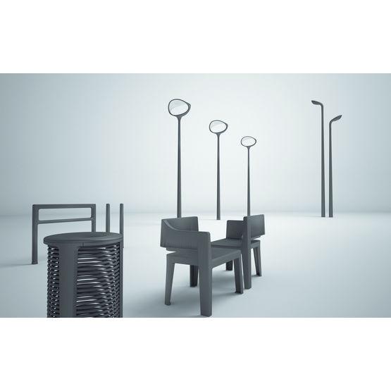 mobilier urbain monobloc en fonte thermolaqu e ikone. Black Bedroom Furniture Sets. Home Design Ideas