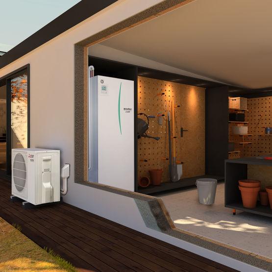 Module hydraulique pour chauffage et ECS | Ecodan Hydrobox duo - MITSUBISHI  ELECTRIC