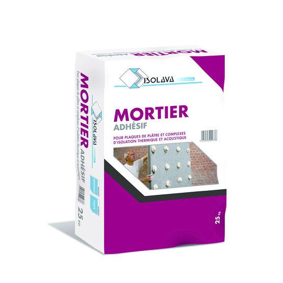 mortier colle pour plaques de pl tre et isolants mortier adh sif isolava france. Black Bedroom Furniture Sets. Home Design Ideas