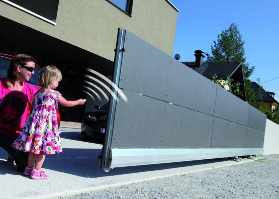 motorisation pour portail coulissant c720 721 faac france. Black Bedroom Furniture Sets. Home Design Ideas