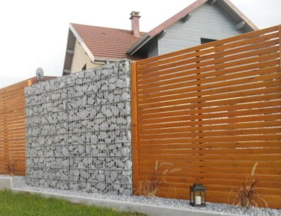 mur de cl ture en gabions stonekit. Black Bedroom Furniture Sets. Home Design Ideas