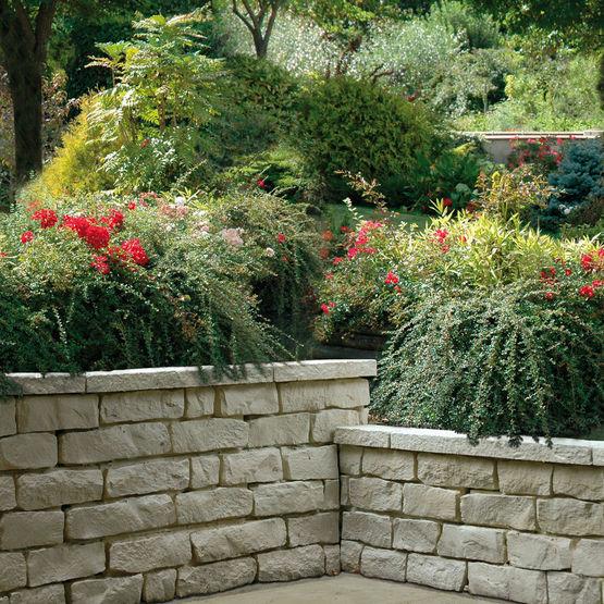 Muret de jardin imitation pierres s ches muret garrigue weser - Muret pierre reconstituee ...