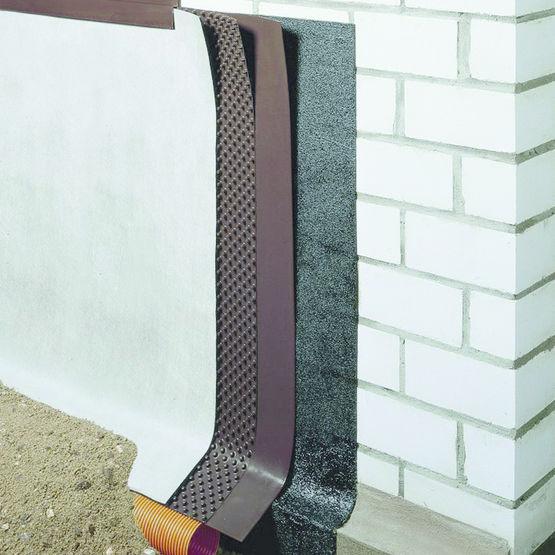 nappe excroissances pour protection et drainage vertical doerken crans delta. Black Bedroom Furniture Sets. Home Design Ideas