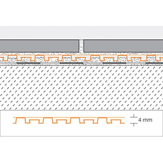Carrelage Design natte d étanchéité sous carrelage : Natte de drainage balcons et terrasses pour pose collu00e9e - SCHLu00dcTER ...