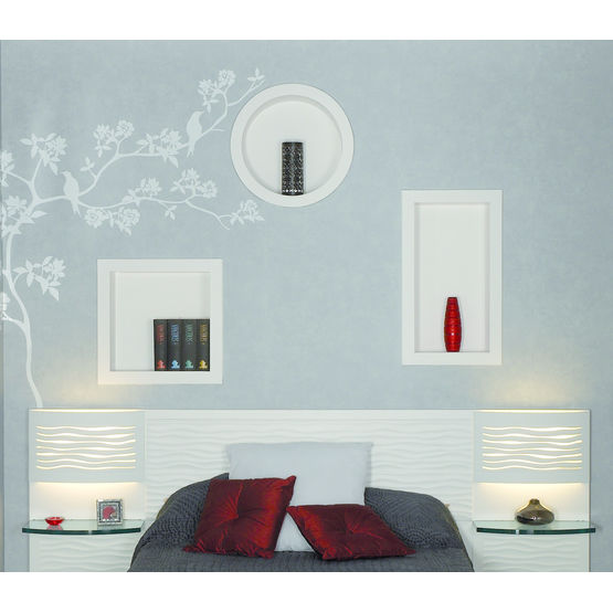 niches murales en staff niches staff d cor. Black Bedroom Furniture Sets. Home Design Ideas