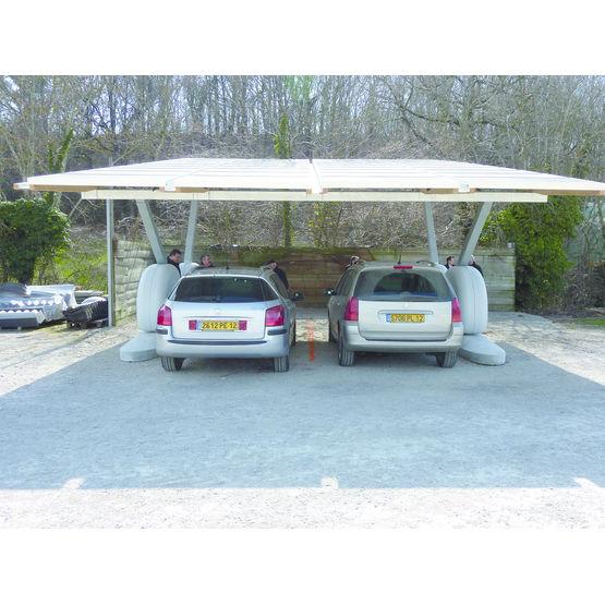 ombri re de parking ext rieur panneaux photovolta ques sun4park enerqos. Black Bedroom Furniture Sets. Home Design Ideas