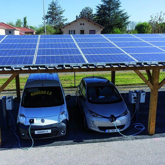 Ombriere Photovoltaique Pour Vehicules Electriques Ombriwatt Edf