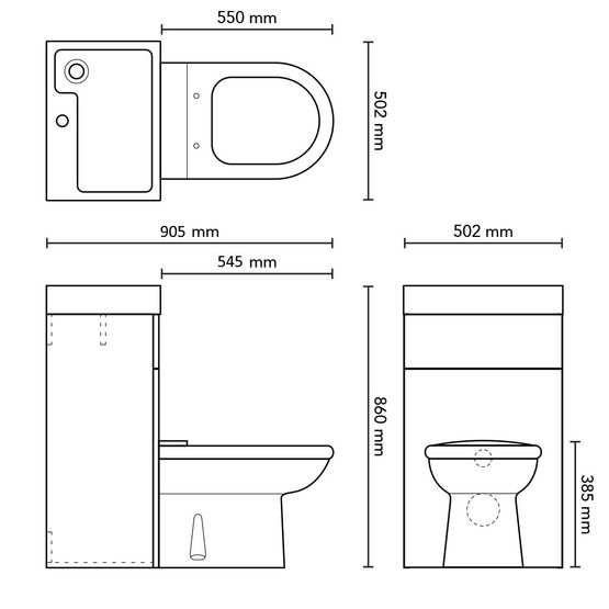 dimension piece wc avec lave main affordable un lavemains idal pour un wc troit with dimension. Black Bedroom Furniture Sets. Home Design Ideas