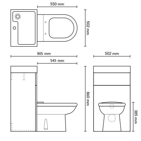 prc845cb c pack wc avec lave mains int gr batiproduits. Black Bedroom Furniture Sets. Home Design Ideas