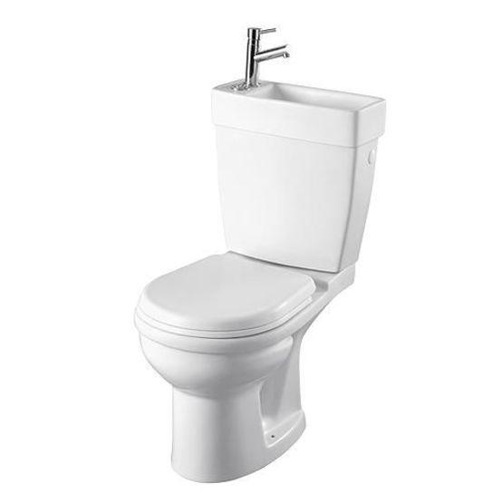 Pack wc au sol lave mains int gr et robinet chrom batiproduits - Amenagement wc avec lave mains ...