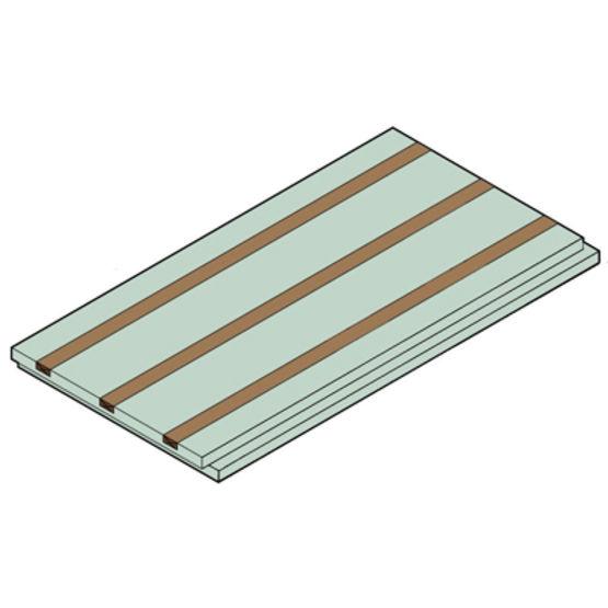 Panneau de sous toiture lattes int gr es neobat - Panneau autoportant pour toiture ...