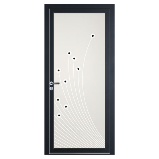 panneau d coratif en verre volma graphid co pour porte d. Black Bedroom Furniture Sets. Home Design Ideas