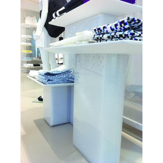 panneau design transparent en nid d 39 abeille cristalline. Black Bedroom Furniture Sets. Home Design Ideas