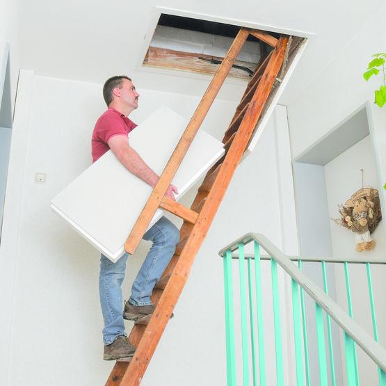 Panneau isolant de sol pour combles et greniers fermacell for Ascenseur de maison individuelle