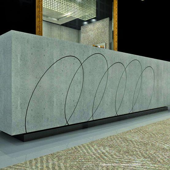 Panneau Mineral Aspect Beton Pour Agencement Interieur Concreo