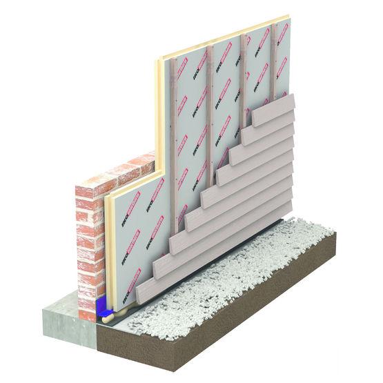 Panneau pour isolation ext rieure sous bardage ventil - Quel isolant pour mur exterieur ...