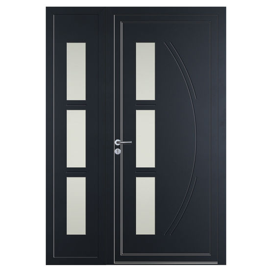 panneau pour porte d entr e en aluminium volma loft alu loft alu volma. Black Bedroom Furniture Sets. Home Design Ideas