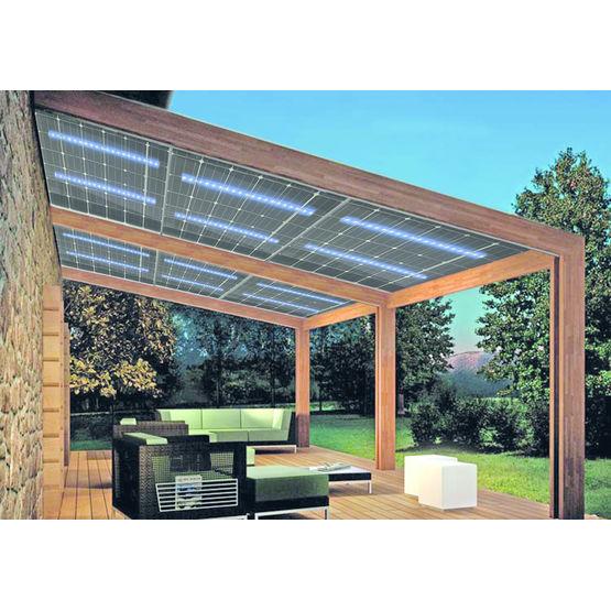 panneau pv bi verre clairage autonome par leds int gr es sna solar. Black Bedroom Furniture Sets. Home Design Ideas