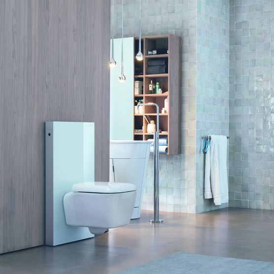 panneau sanitaire pour wc suspendu ou au sol panneau wc monolith geberit. Black Bedroom Furniture Sets. Home Design Ideas