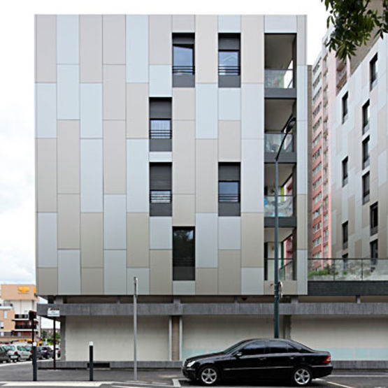 Panneaux composites parement aluminium laqu 3a composites for Parement aluminium exterieur