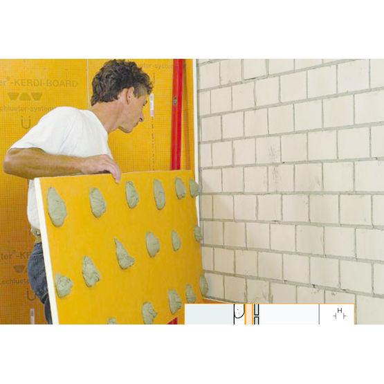 Panneaux d 39 agencement pr ts carreler pour salle de bains schl ter systems - Carreler mur salle de bain ...