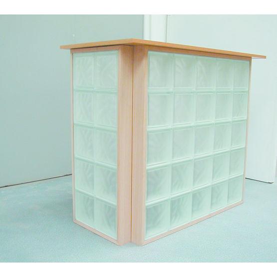 panneaux de briques de verre cadre bois bricokit bois. Black Bedroom Furniture Sets. Home Design Ideas