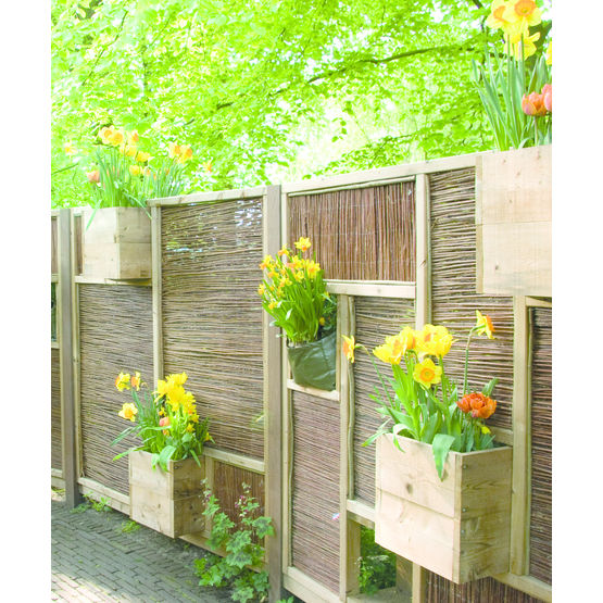 panneaux de cl ture en bois compartiments pour bacs. Black Bedroom Furniture Sets. Home Design Ideas