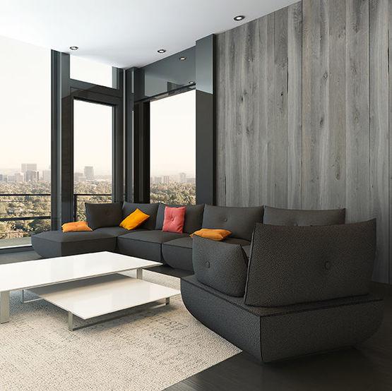 panneaux d coratifs en bois avec placage essence de ch ne. Black Bedroom Furniture Sets. Home Design Ideas