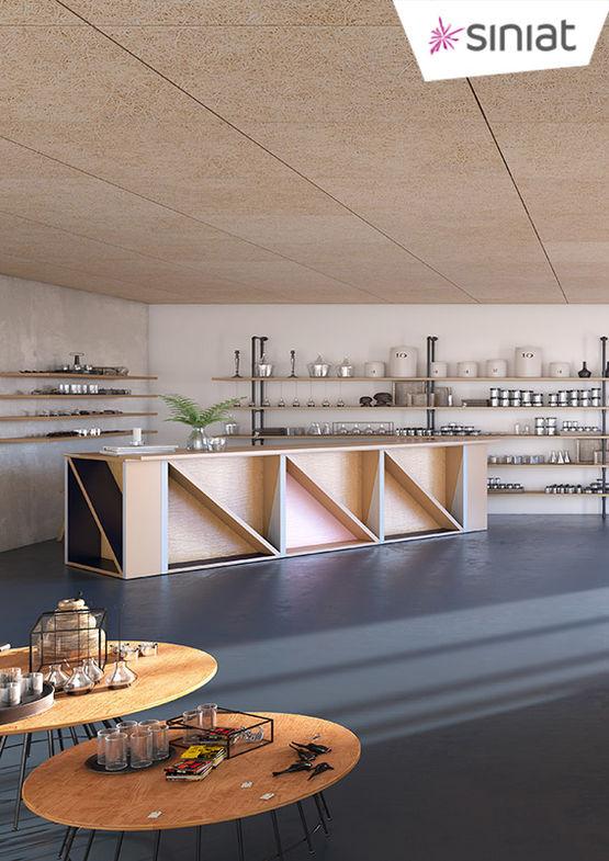 panneaux d coratifs et acoustiques en laine de bois purebel siniat. Black Bedroom Furniture Sets. Home Design Ideas