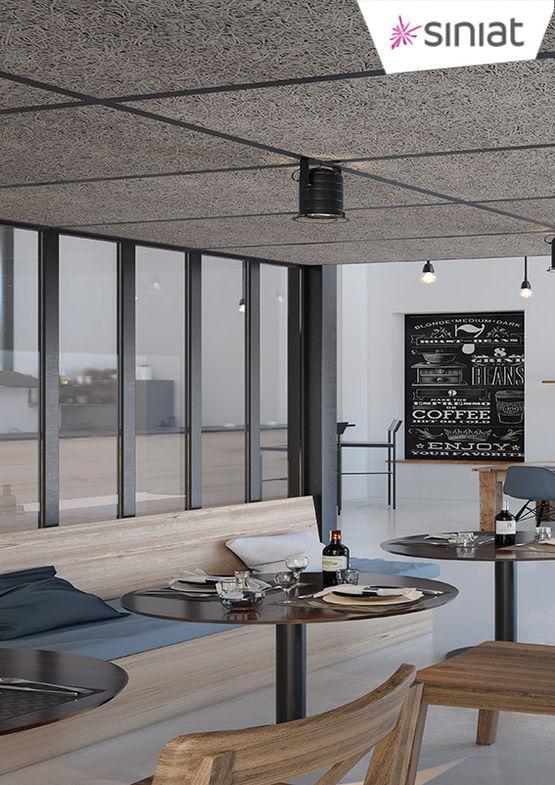 panneaux d coratifs et acoustiques en laine de bois siniat purebel siniat. Black Bedroom Furniture Sets. Home Design Ideas