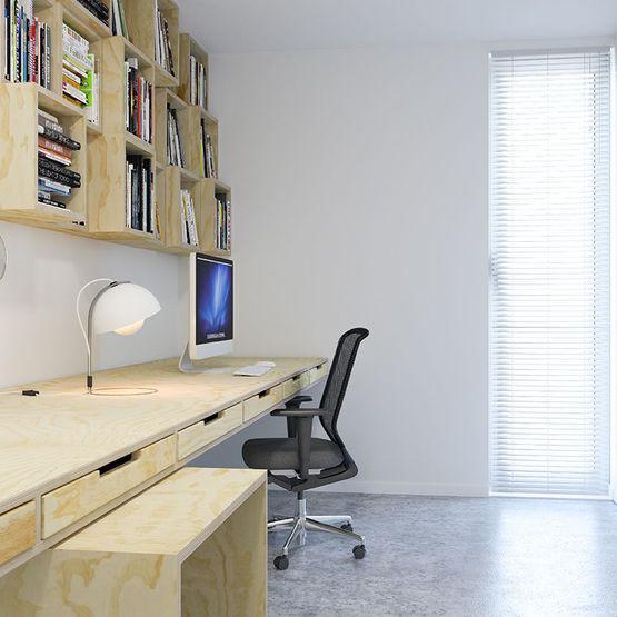 Panneaux plaqu s bois d 39 aspect contemporain pour am nagement int rieur for Amenagement interieur contemporain