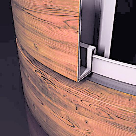 panneaux sandwich parement aluminium effet bois alucobond legno 3a composites. Black Bedroom Furniture Sets. Home Design Ideas