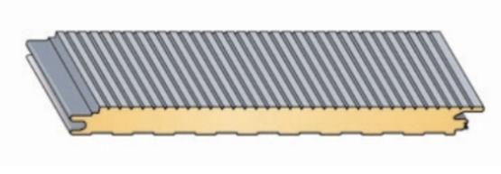 panneaux sandwich en acier avec me polyur thane fixations cach es monopanel. Black Bedroom Furniture Sets. Home Design Ideas